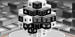 Mahjong 3D Black and White